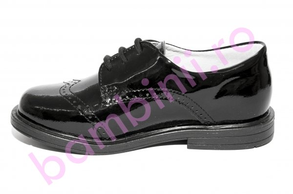 Pantofi copii hokide 207 negru lac new 23-37