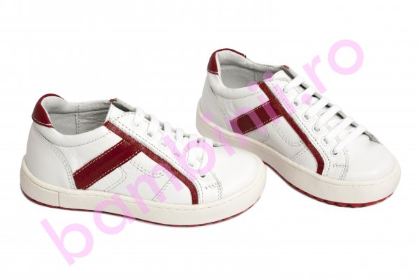 Pantofi copii hokide 288 alb rosu