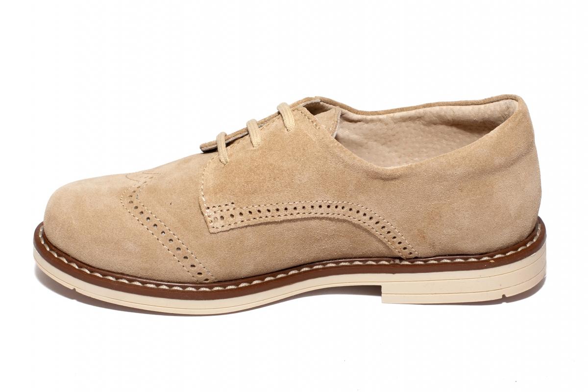 Pantofi copii hokide piele intoarsa 207 bej 26-37