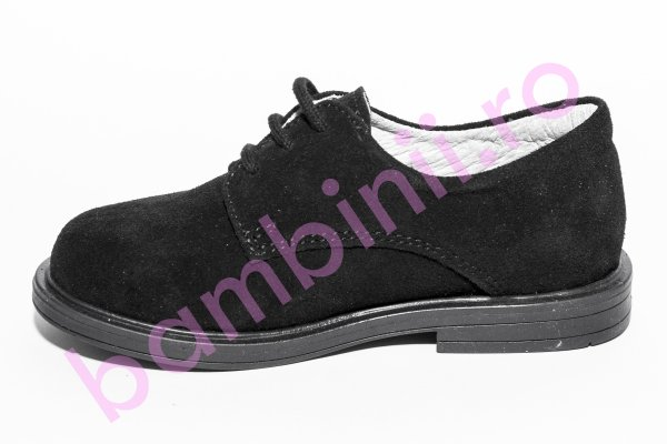 Pantofi copii hokide piele intoarsa 207 negru 23-37
