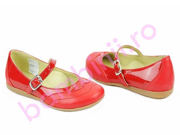 Pantofi fete 1327 rosu lac
