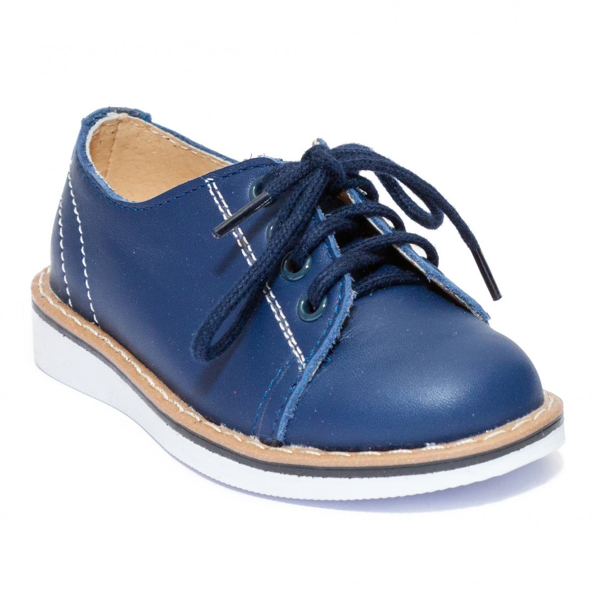 Pantofi copii piele 1399 blu 20-25