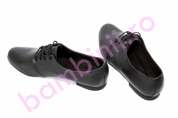 Pantofi copii piele 58 negru box 34-41