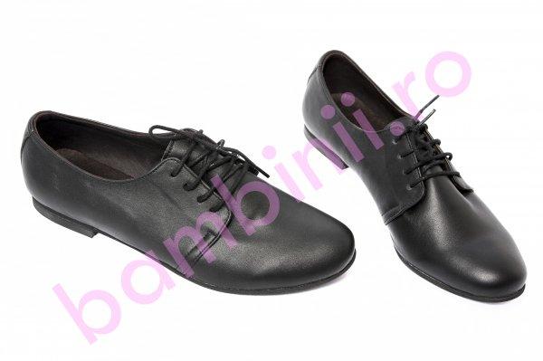 Pantofi copii piele 60 negru box 34-41