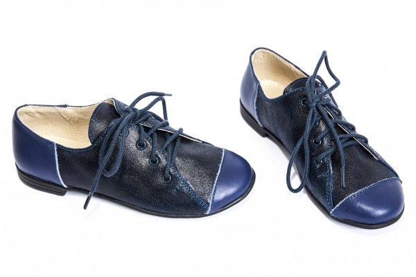 Pantofi copii piele 533 blu 26-36