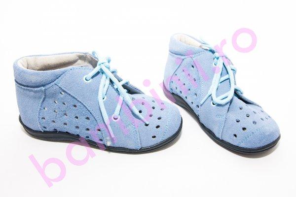Pantofi copii piele 644 albastru