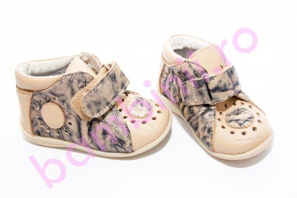 Pantofi copii piele 644 bej