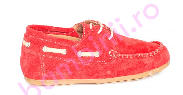 Pantofi copii piele intoarsa pj shoes Jose rosu 27-36