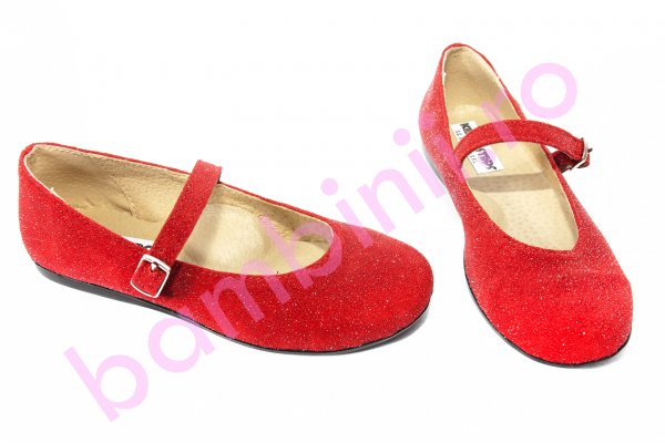 Pantofi copii piele eleganti 1326 rosu lux 26-36