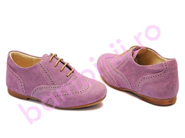 Pantofi copii piele hokide 326 mov
