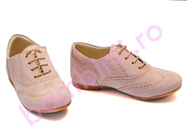 Pantofi copii piele hokide 326 roz
