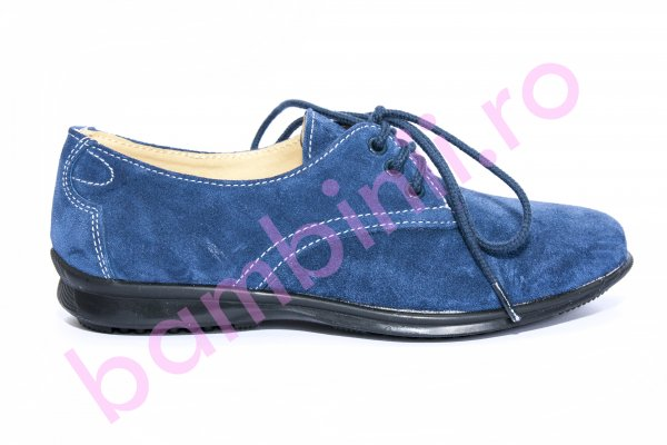 Pantofi copii piele intoarsa 1380 albastru 26-36