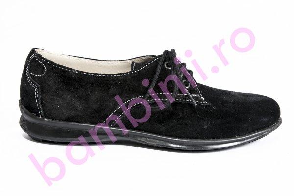 Pantofi copii piele intoarsa 1380 negru 26-36