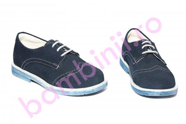 Pantofi copii piele intoarsa 207 albastru 23-37