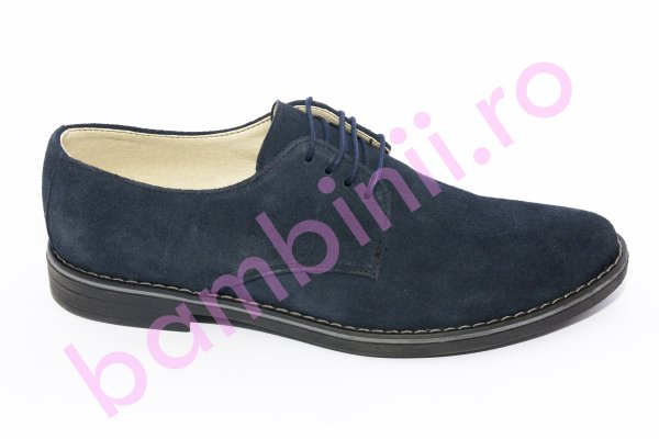 Pantofi copii piele intoarsa 9 blu CN 36-45