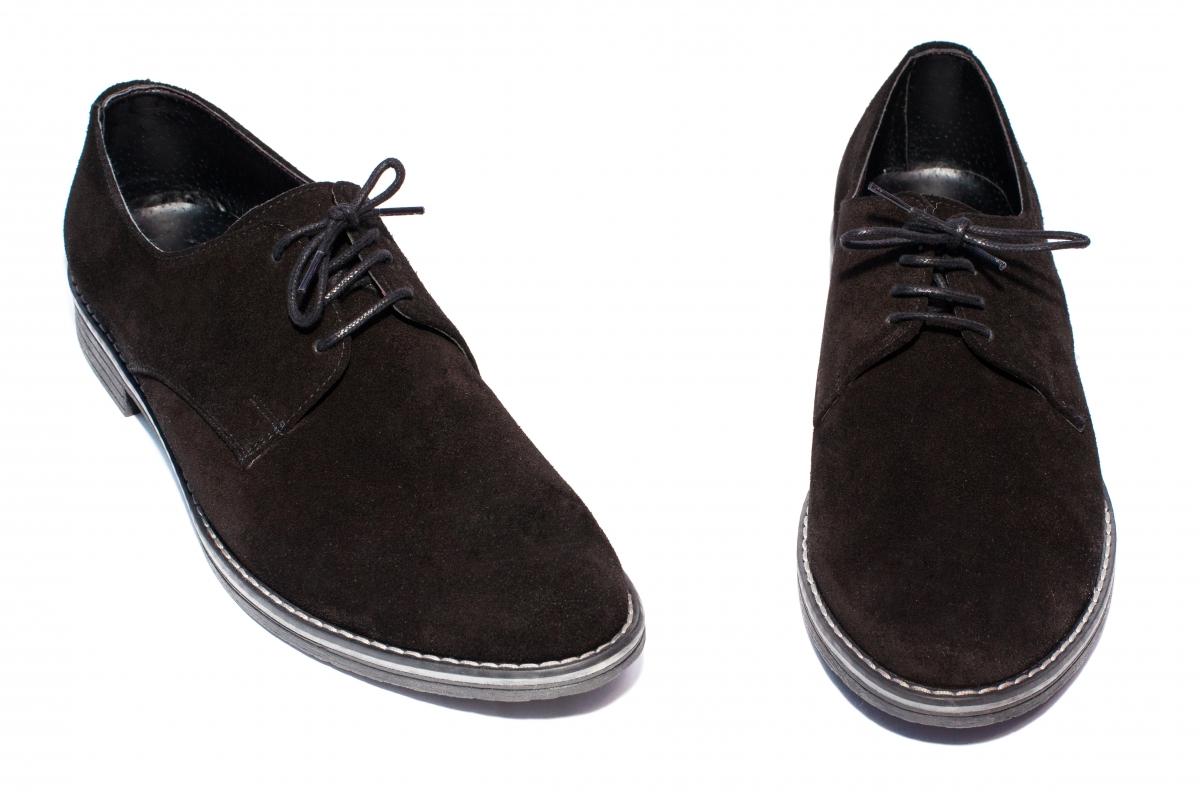 Pantofi copii piele intoarsa 9 negru 36-46