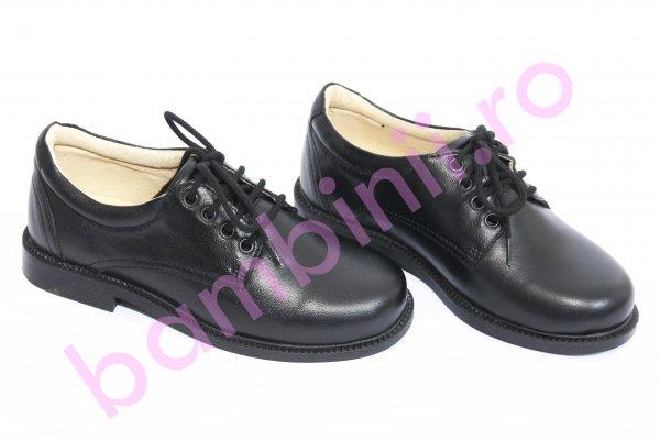 Pantofi copii piele leofex 101 negru