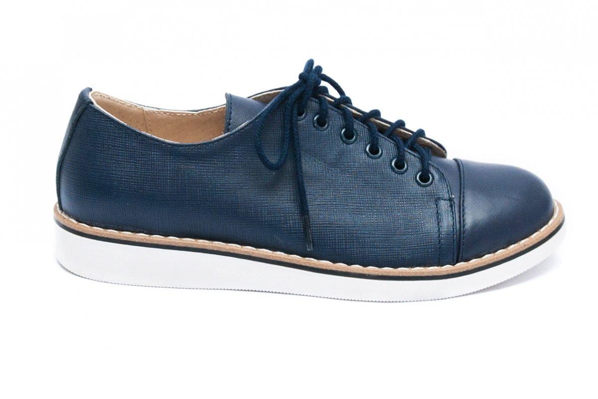Pantofi copii piele naturala 1384 blu lux 26-36