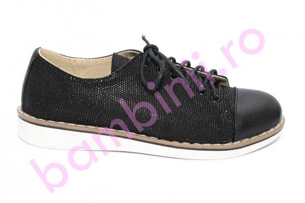 Pantofi copii piele naturala 1384 negru 26-36