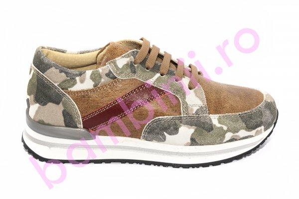 Pantofi copii piele pj shoes Zar cafe 31-38