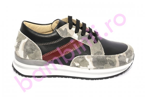 Pantofi copii piele pj shoes Zar negru 31-38