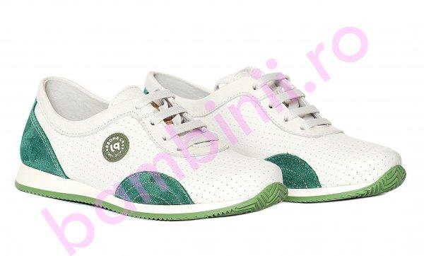 Pantofi copii pj shoes Oskar alb verde 31-38