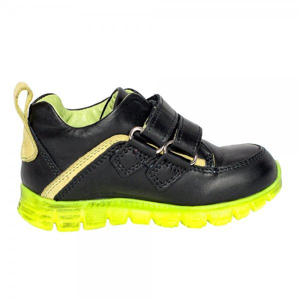 Pantofi copii pj shoes Salvatore negru verde 24-37