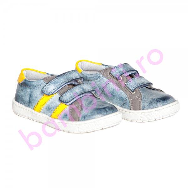 Pantofi copii pj shoes Skate albastru galben 27-37