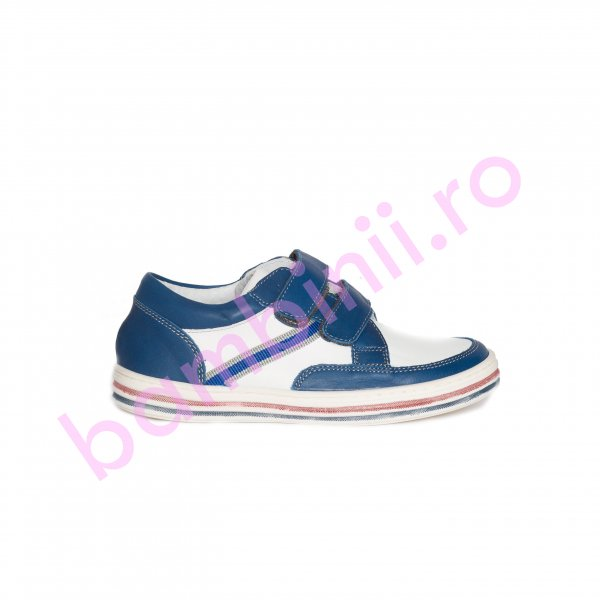 Pantofi copii pj shoes Zar blumarin alb 27-36