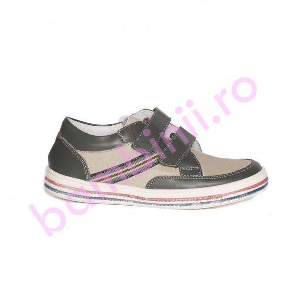 Pantofi copii pj shoes Zar gri 27-36