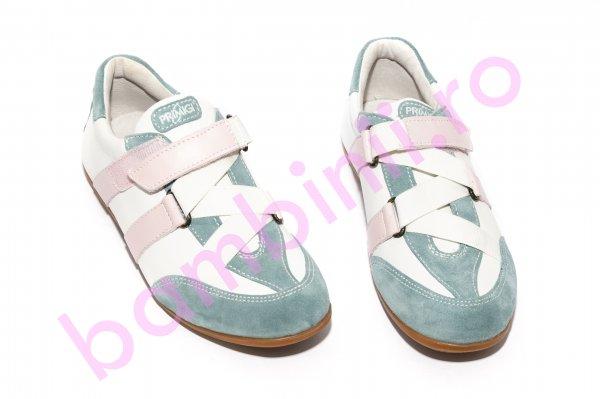 Pantofi copii primigi 352 alb roz 26-39