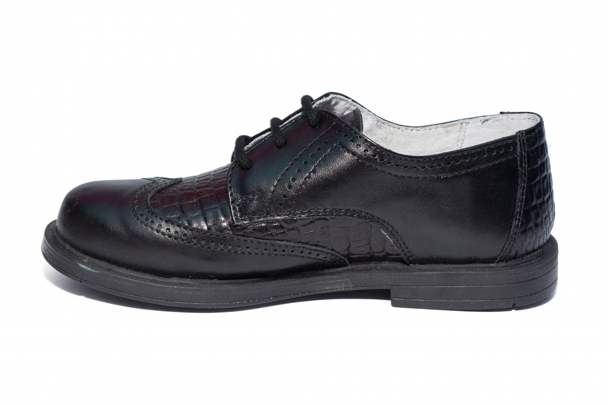 Pantofi copii scoala hokide 404 negru croco 26-37