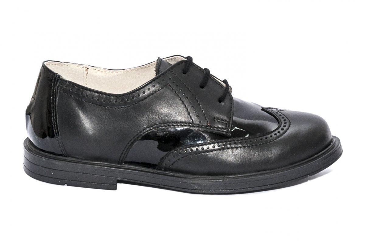 Pantofi copii scoala hokide 404 negru lac 26-37
