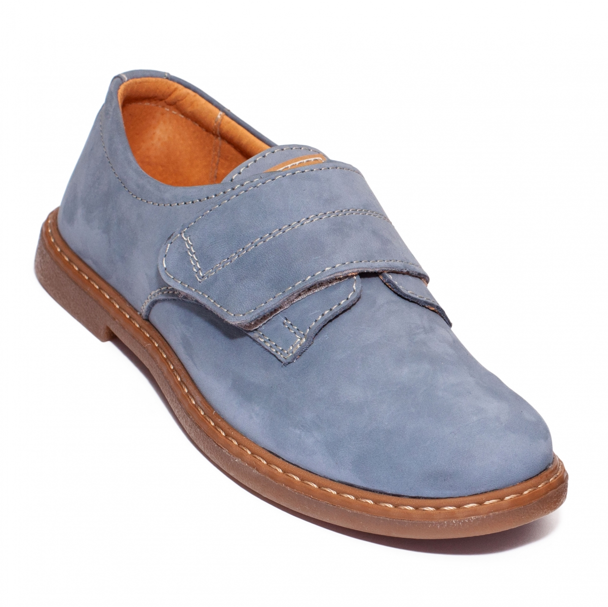 Pantofi copii scoala piele Denis Blue 24-36