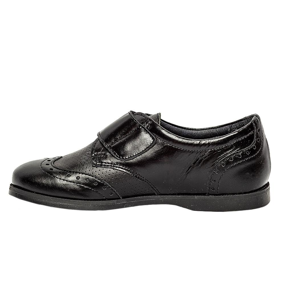Pantofi copii scoala piele pj shoes Frigerio 02 negru arici 31-38