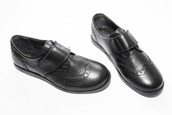 Pantofi copii scoala pj shoes Frigerio 02 negru arici 31-38