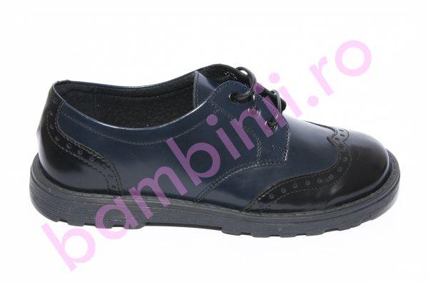 Pantofi copii scoala pj shoes Frigerio 03 negru blu 31-38