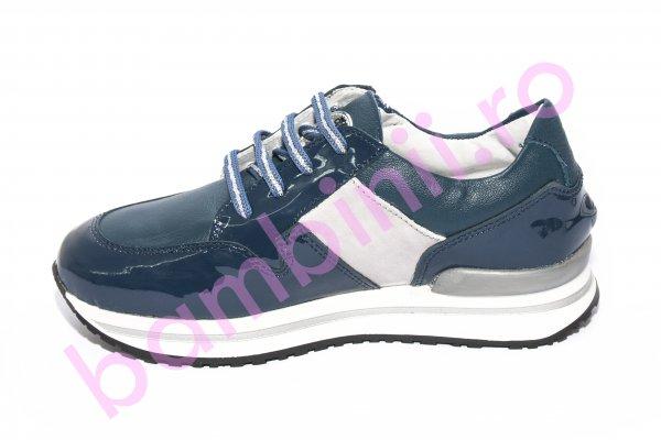 Pantofi copii scoala pj shoes Like albastru lac 31-38