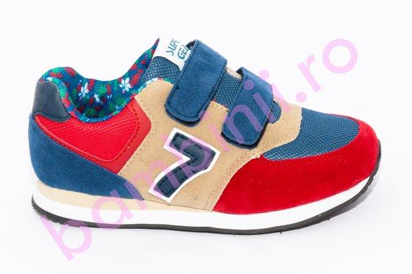Pantofi copii sport 686 albastru rosu 30-35