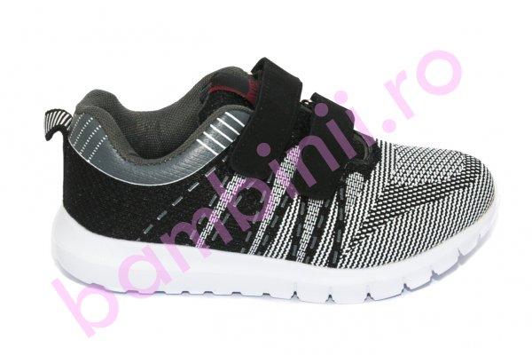Pantofi copii sport 780 negru gri 30-35