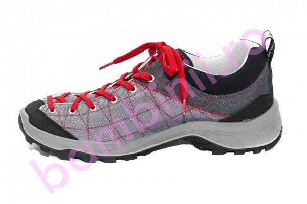 Pantofi copii sport Dolomite diagonal lite gri rosu 36-47