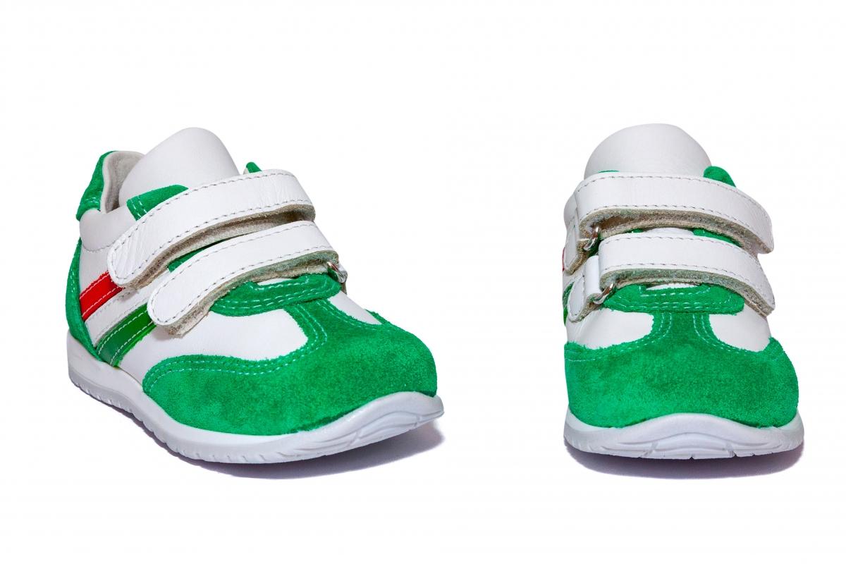 Pantofi copii sport avus 795 verde alb 19-27