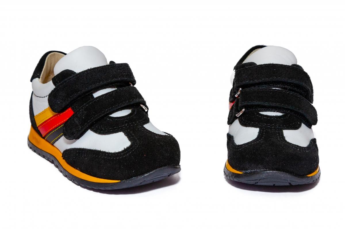 Pantofi copii sport avus 796 negru alb 19-27