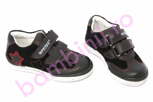 Pantofi copii sport hokide 127 negru rosu