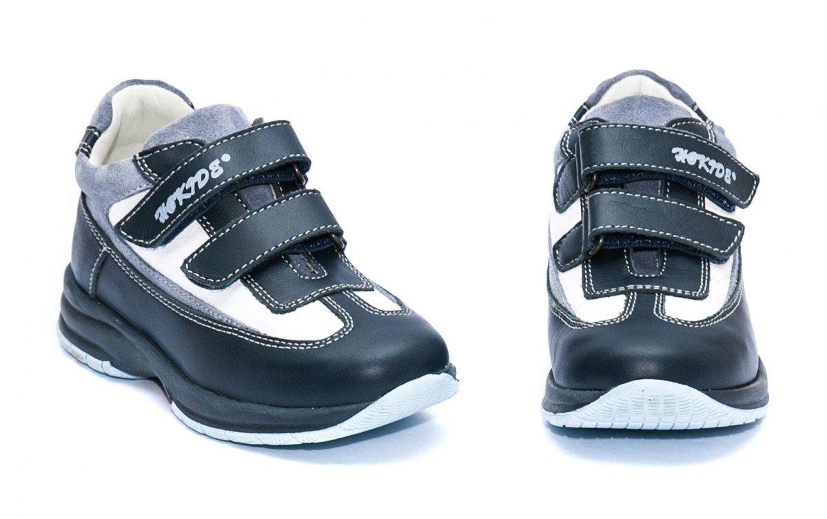 Pantofi copii sport hokide 187 blu alb 26-37