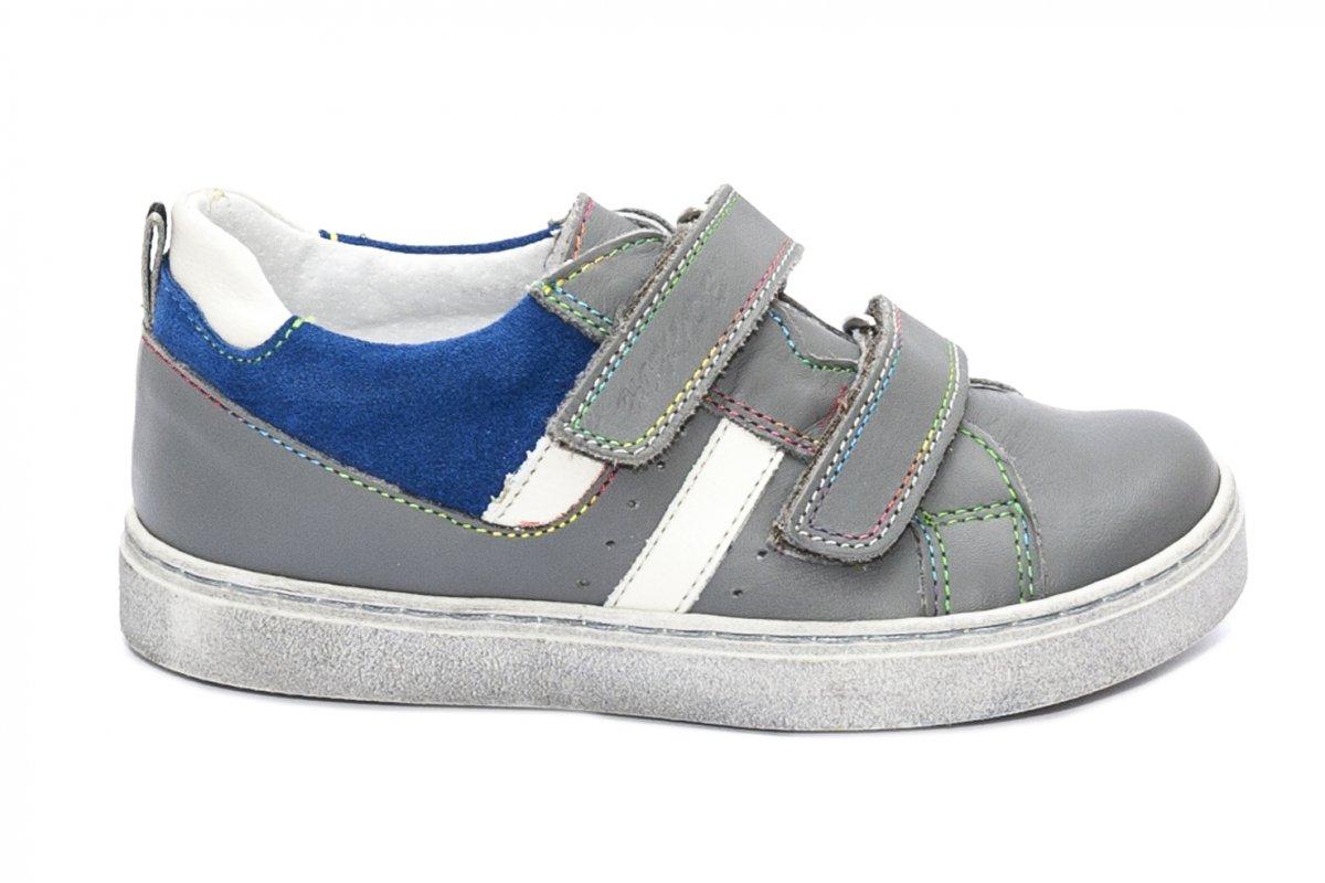 Pantofi copii sport hokide 316 gri albastru 26-35
