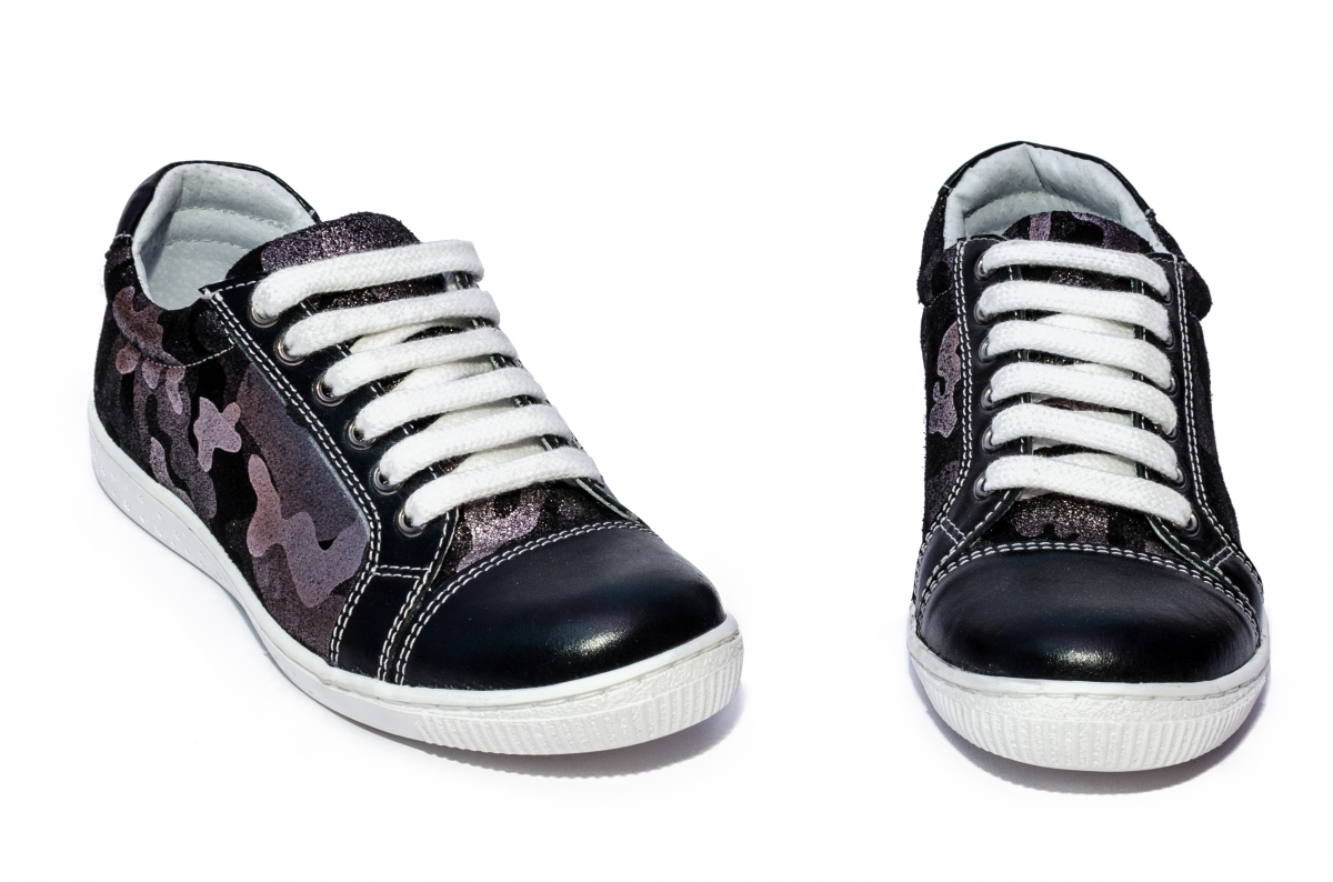 Pantofi copii sport hokide 387 negru camuflaj 26-36