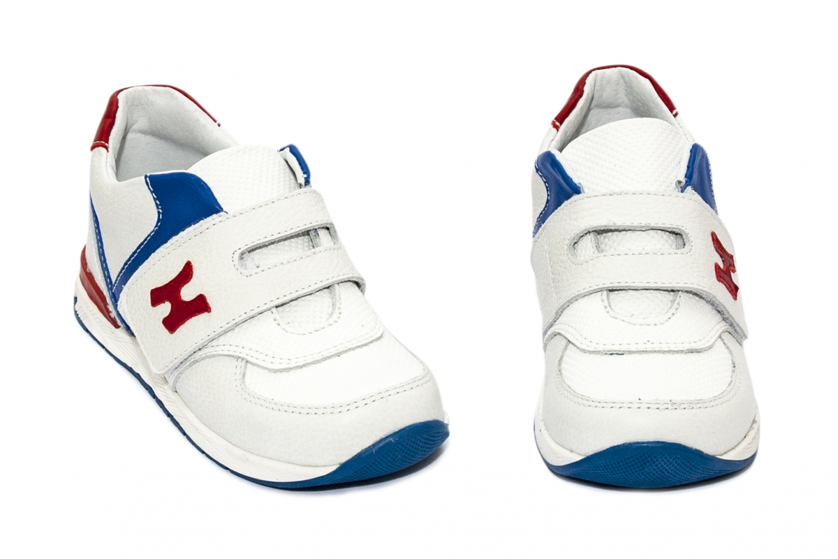 Pantofi copii sport hokide 395 alb rosu blu 19-25