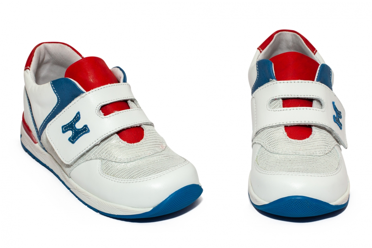 Pantofi copii sport hokide 395 alb sidef rosu blu 19-30