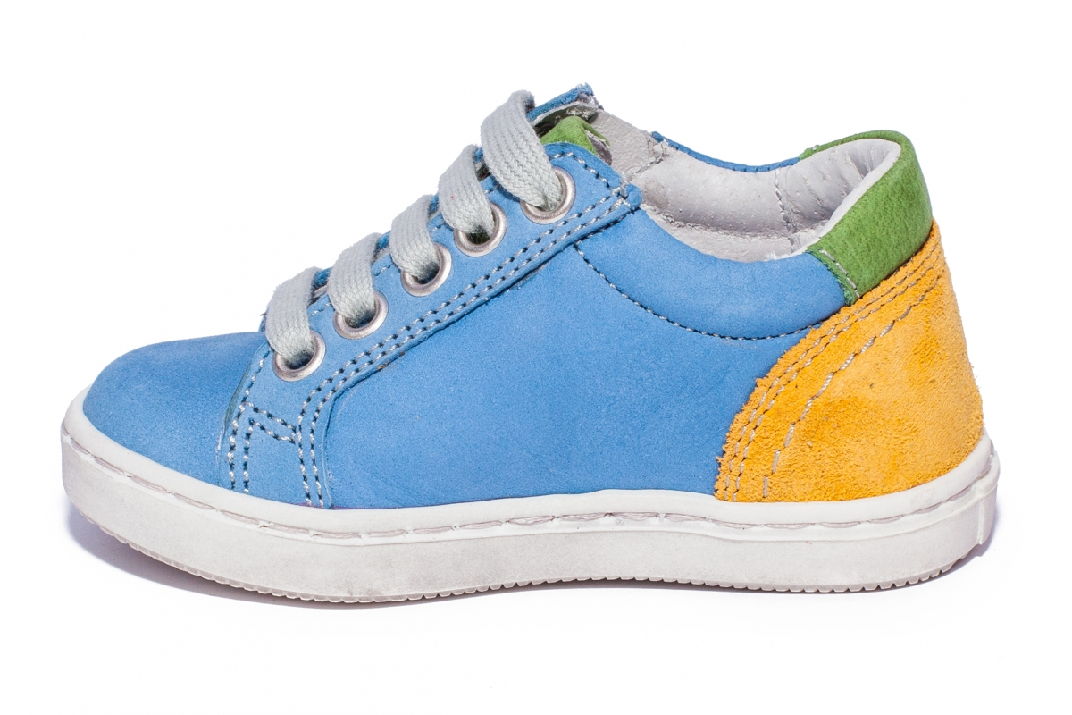 Pantofi copii sport hokide 400 albastru galben verde 19-30